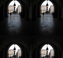 Dark Exit  Krakow Poland by mikequigley