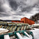 Off Season - Rowboats in the Snow by MikeJagendorf