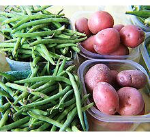 Red Potatoes and Green Beans Photographic Print
