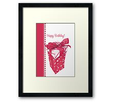 Red Gift Box Happy Birthday Framed Print
