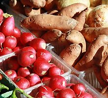 Sweet Potatoes,Radishes, Onions, Jalapeno's by BabyBundtCake