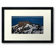 Diamond Peak Framed Print