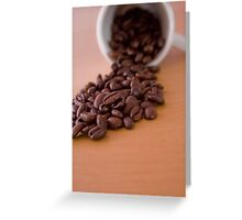 Coffee Spill Greeting Card