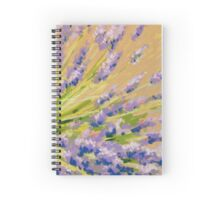 Lavender flowers in pastel. Painting Spiral Notebook