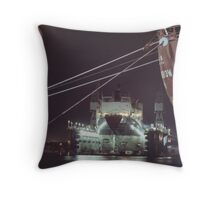Floating Dry Dock Throw Pillow
