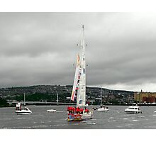 Derry Clipper Yacht - River Foyle Derry Ireland  Photographic Print
