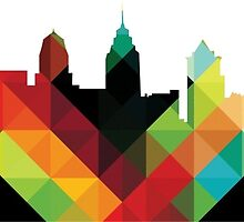 Philadelphia PA Skyline- Colorful by michellegriff90