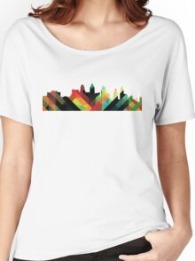 Philadelphia PA Skyline- Colorful Women's Relaxed Fit T-Shirt