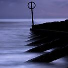 Wooden groynes of Aberdeen Scotland by Gabor Pozsgai