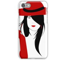 A woman with a cigarette iPhone Case/Skin