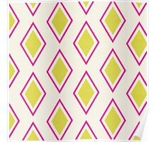 Neon Pink Moroccan  Poster