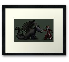 Easy boy.... Framed Print