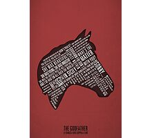 Godfather - Horses Head Quotes Print Photographic Print