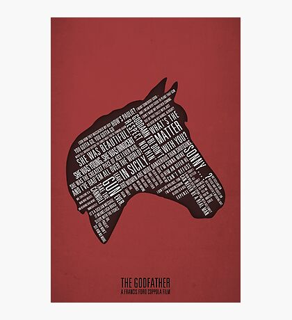 Godfather - Horses Head Quotes Print Photographic Print