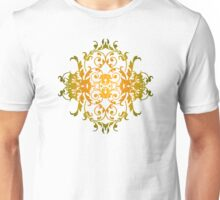 Droopy Eared Floral Dogs Unisex T-Shirt