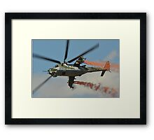 Mil Mi 35  Czech Air Force Framed Print
