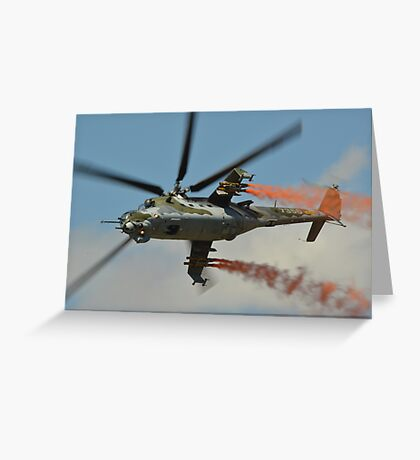 Mil Mi 35  Czech Air Force Greeting Card