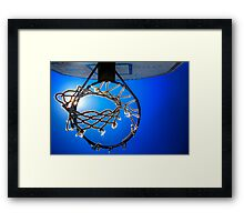 Hoop Blue Framed Print