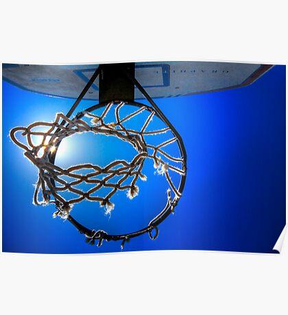 Hoop Blue Poster