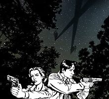 Mulder & Scully  by SpoilersCo