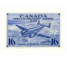 Canada Special Delivery Air Mail Stamp Art Print