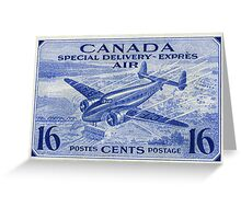 Canada Special Delivery Air Mail Stamp Greeting Card