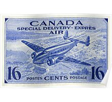 Canada Special Delivery Air Mail Stamp Poster