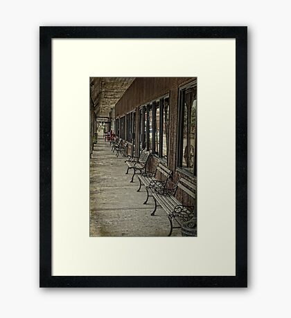 Row of Benches Framed Print