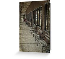 Row of Benches Greeting Card
