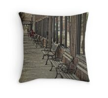 Row of Benches Throw Pillow