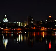 A Harrisburg Night Skyline by Corkle