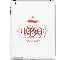 Since 1939 (Red&Black) iPad Case/Skin