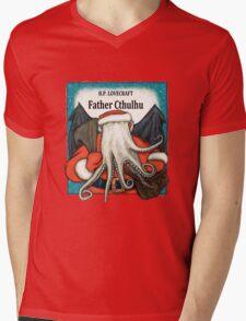 Father Cthulhu Mens V-Neck T-Shirt