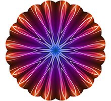 Kaleidoscope Neon Light 02 Photographic Print