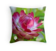Pink and Blink White Stripes Throw Pillow