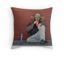 Lazing in San Diego Throw Pillow