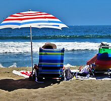 Red, White & Blue, Seal Beach, California by Stephen Burke