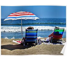 Red, White & Blue, Seal Beach, California Poster