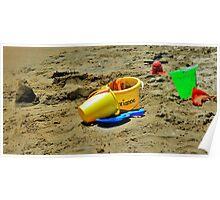 Beach Toys, Seal Beach, California Poster