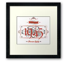Since 1945 (Red&Black) Framed Print