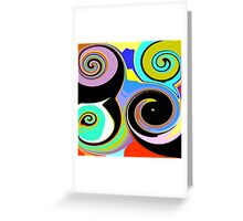 Modern Abstract Swirl Design Greeting Card