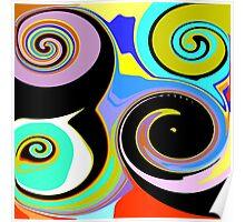 Modern Abstract Swirl Design Poster