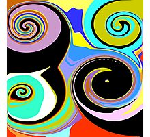 Modern Abstract Swirl Design Photographic Print