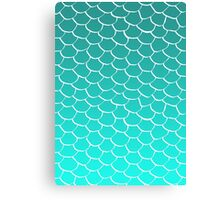 Teal Scales Canvas Print