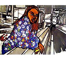 """B-GIRL IN SUBWAY"" Photographic Print"