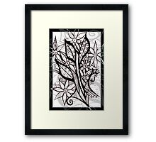 Petal Patterns in Black and White Framed Print