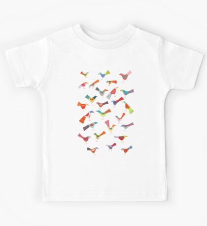 Birds doing bird things Kids Tee