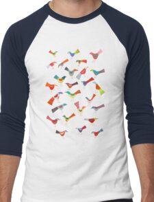 Birds doing bird things Men's Baseball ¾ T-Shirt