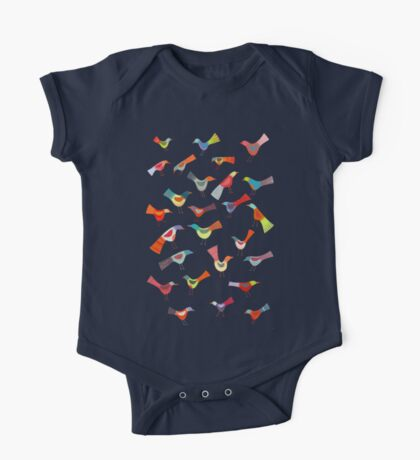 Birds doing bird things One Piece - Short Sleeve
