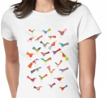 Birds doing bird things Womens Fitted T-Shirt